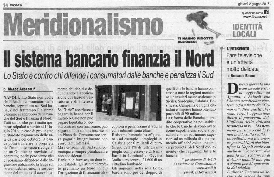 Articolo 2 giugno Giornale Il Roma s